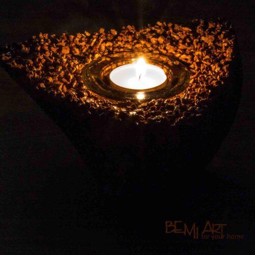 Hořící čajová svíčka svíčka z korku