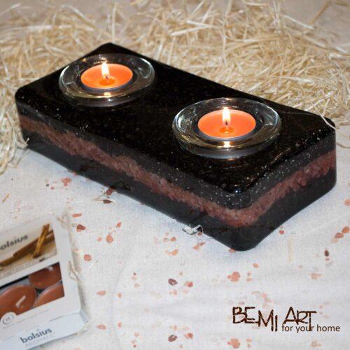 Svícen na dvě čajové svíčky