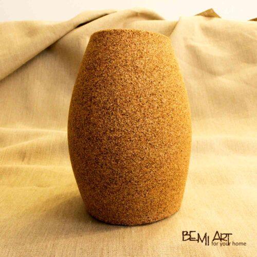 Hnědá moderní váza