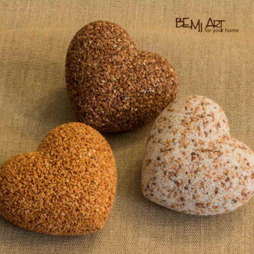 Kamenná mramorová srdíčka