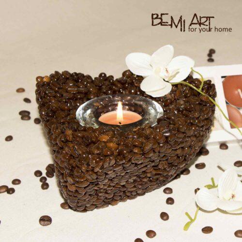 Svícen čajová svíčka z káva arabica