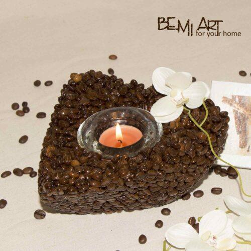 Svícen na čajovou svíčku - káva Arabica